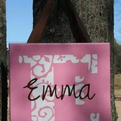 Personalized &quot;Emma&quot; Girls Name Wall Hanging