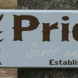 Painted Family Name Sign